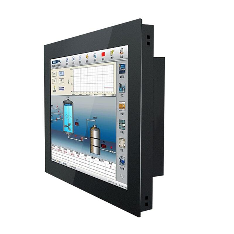 10 15 17 12 Polegada monitor de tela lcd da tabuleta vga/hdmi/usb tela de toque de resistência instalação embutida industrial computer lcd  monitors