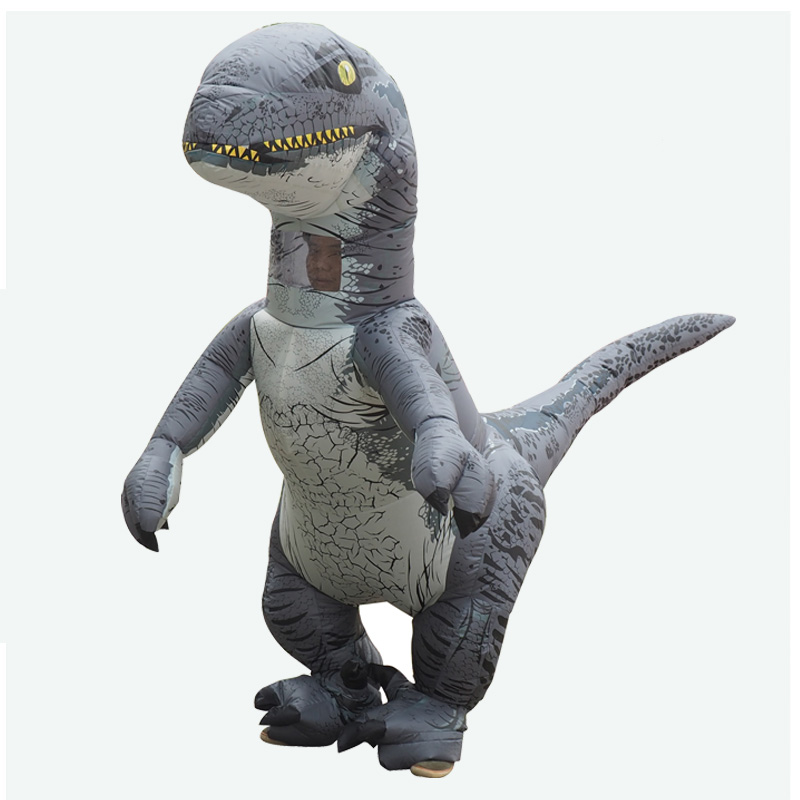 Hot Sale Inflatable Velociraptor T Rex Dinosaur Costume Cosplay Fantasy Halloween Party For Adult (1)