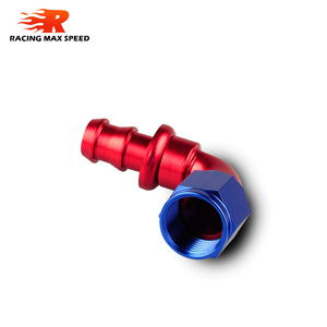 Image 3 - car accessories intercooler Aluminum FITTING Push On Hose Ends Pipe AN6 fitting