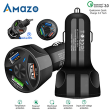 QC3.0 USB Caricabatteria Da Auto HA CONDOTTO LA Luce 12 24V della Sigaretta Presa Accendisigari Adattatore di Alimentazione di Ricarica Veloce Auto Charger per Il Telefono Iphone Samsung