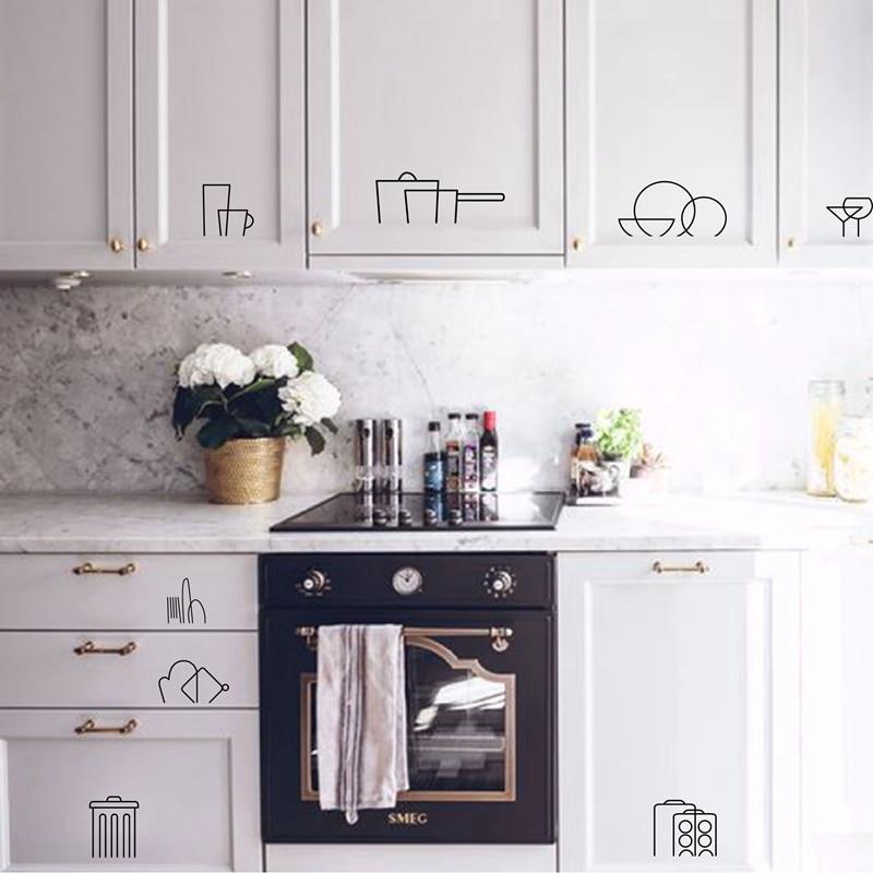 Kitchen Cabinet Decal Vinyl Stickers