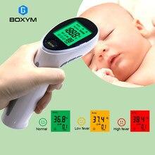 BOXYM – thermomètre numérique à infrarouge Portable, sans Contact, pour bébé et adulte, température corporelle, fièvre