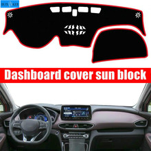 For Hyundai Santa Fe IX45 4th Gen 2019  Car Dashboard Cover Mat Pad Sun Shade Instrument Protect Carpet Accessories