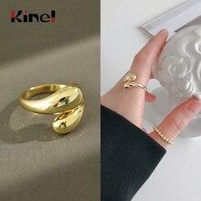 Kinel Fashion Ring Silver Sterling 925 Real Woman Jewelry Open Korean Rings Fine bijoux