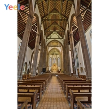 Yeele Scenery Gothic Wooden Church Interior Vintage Photography Backdrops Personalized Photographic Backgrounds For Photo Studio