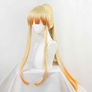 Image 2 - DIOCOS Anime Demon Slayer Kimetsu Geen Yaiba Agatsuma Zenitsu Cosplay Pruiken Mannen Vrouwen 90cm Lange Hittebestendige Haar