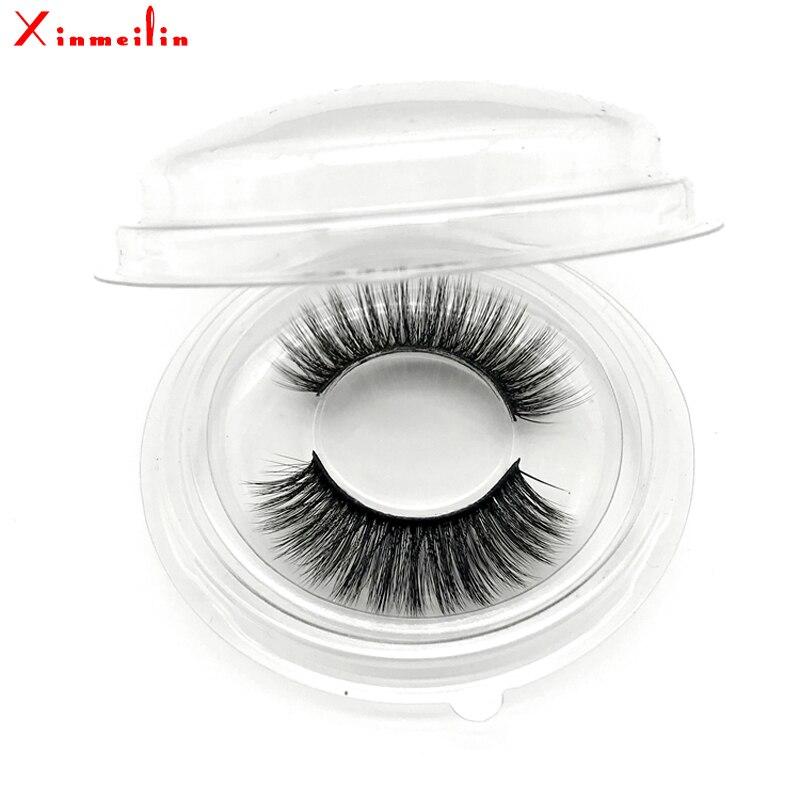 50 pairs 6D faux mink lashes wholesale natural long individual thick fluffy dramatic makeup volume false eyelashes with lash box - 4