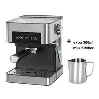 ITOP 반자동 가정용 20Bar 에스프레소 커피 메이커 기계 스테인레스 스틸 커피 머신 이탈리아 커피 메이커 850W