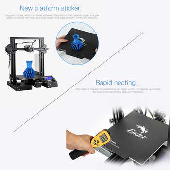 CREALITY 3D Ender-3 / Ender-3 PRO 3D Printer Upgraded Magnet Build Plate Failure Printing MeanWell Power Supply