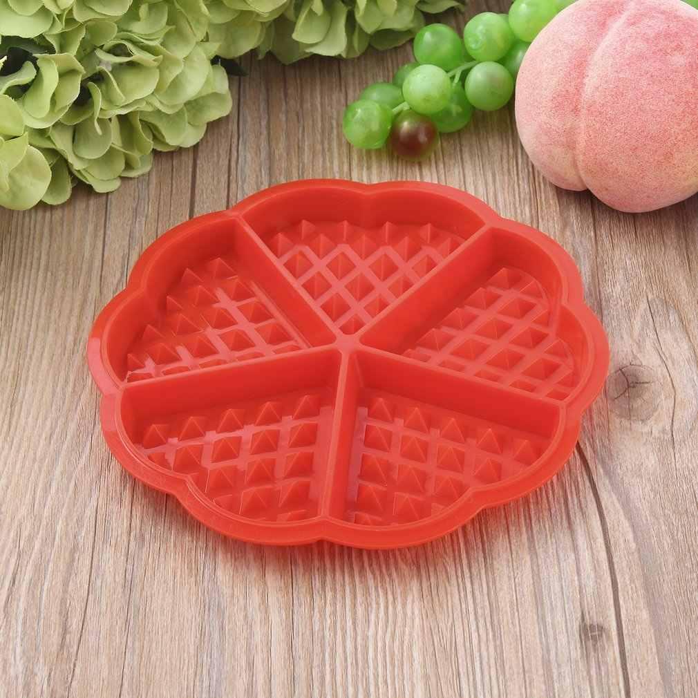 1 X Heart Shape Wafel Schimmel 5-Holte Siliconen Oven Pan Bakken Cookie Cake Muffin Koken Gereedschap Keuken Accessoires levert