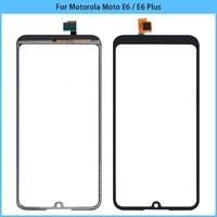 Nueva pantalla táctil para Motorola Moto E6 más Digitalizador de pantalla táctil de cristal frontal para Moto E6 Panel táctil de reemplazo
