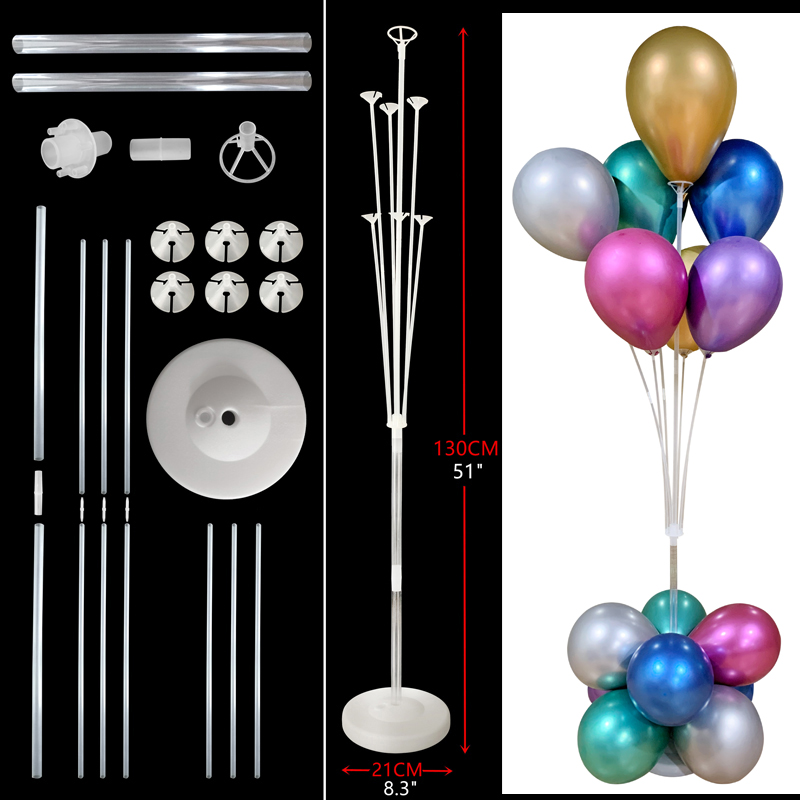7tubes Balloons Stand Ballons Decoration Wedding 16 18 20 30 <font><b>40</b></font> 50 <font><b>60</b></font> 70 Year Anniversary Birthday Party Decorations Kids Adult image