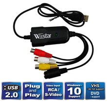 New Wiistar USB 2.0 Audio Video Capture Card Easycap Adapter VHS to DVD Video Capture for Win7/10/XP/Vista цена