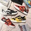 Новые весенние низкие Туфли Pikachu Nezha для влюбленных, популярные холщовые туфли 39-44