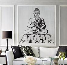Wall Vinyl Decal Buddha Yoga Meditation Relaxation Zen Bedroom Decor Buddhism wall sticker art home T001