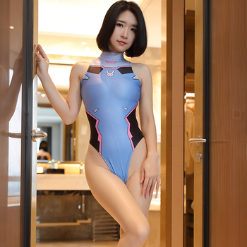 Game Cosplay Overwatch DVA 3D Printed Sexy Costume for Women Anime Bodysuits One Piece Swimwear Halloween Porn Play Playsuits 2