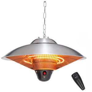 Patio Heater Infrared Outdoor Warmer Electric Gas Eco-Friendly Stainless-Steel 2100W/2500W