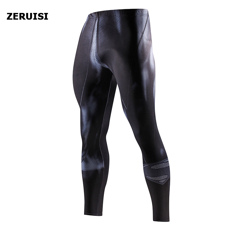 Superhero High Quality Men Skinny Pants 3D Pattern Superman Iron Man Pants Bodybuilding Jogger Fitness Skinny Leggings Trousers