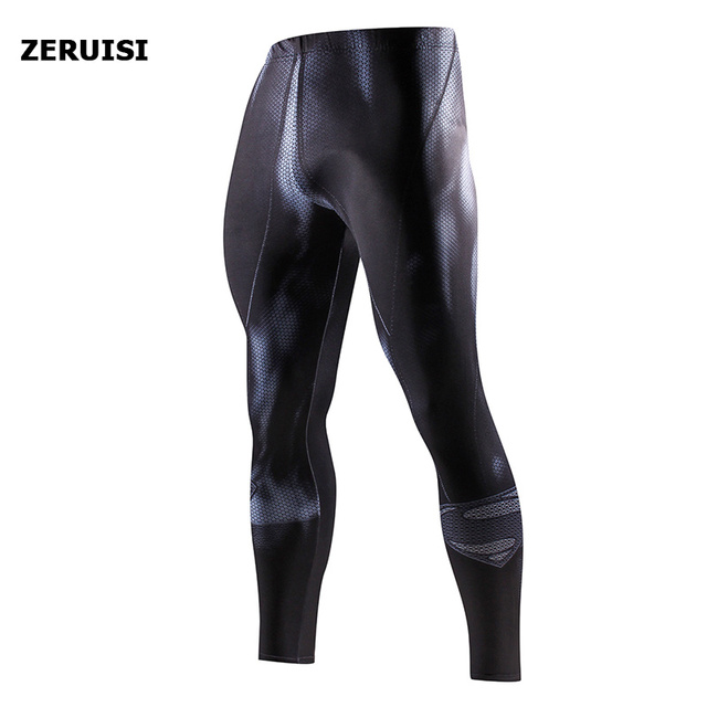 Superhero High Quality Men Skinny Pants 3D Pattern Superman Iron Man Pants Bodybuilding Jogger Fitness Skinny Leggings Trousers 2
