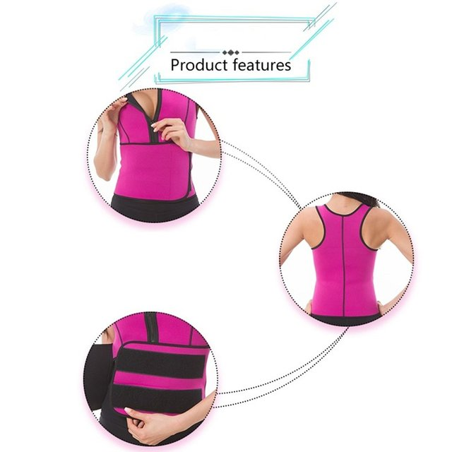 Rubber Body Sculpting Vest Running Vest Belt Conjoined Sweat Suit Tight Fitness Products for Running Hot Sale 5