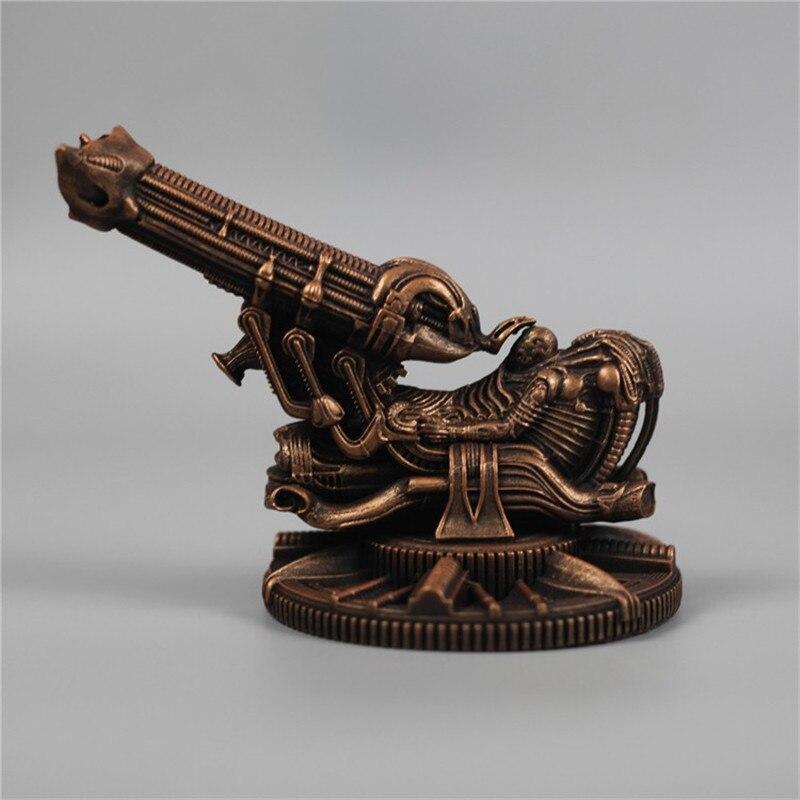 Prédateur européen vs artillerie Alien Art Sculpture Prometheus espace Jockey Figurine résine artisanat décorations pour la maison R3606