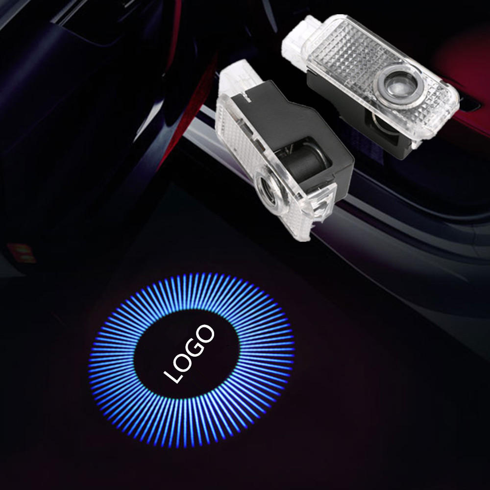 2X Car Door <font><b>Led</b></font> Laser Logo Projector Light For <font><b>Audi</b></font> A1 8X A3 8V A4 B7 B8 A5 8T A6 C5 C6 C7 A7 <font><b>A8</b></font> <font><b>D3</b></font> D4 R8 Q3 Q5 Q7 Sline Quattro image