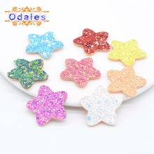 60Pcs/lots Mixed Star Flower Padded Appliques DIY Crafts Supplies Baby Children Hair Band Clips Wedding Decoration Patches