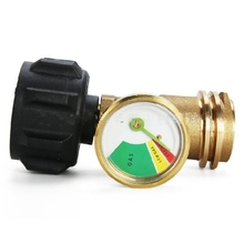 Propane Tank Gauge Level Indicator Leak Detector Pressure Meter QCC1 Connection for Gas Grill Heater RV Camper