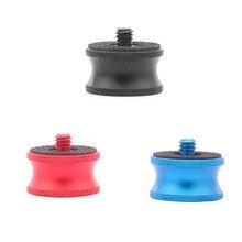 أسود أزرق أحمر كاميرا اكسسوارات 1/4 إلى 3/8 ذكر إلى شاحن أنثي برغي للكاميرا كرة ثلاثية الرأس monopod حامل جبل