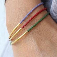 3 Pcs/ Set Fashion Ladies Multi-layer Copper Bead Alloy Bracelet Simple Colored Charm Bracelets for Women Jewelry
