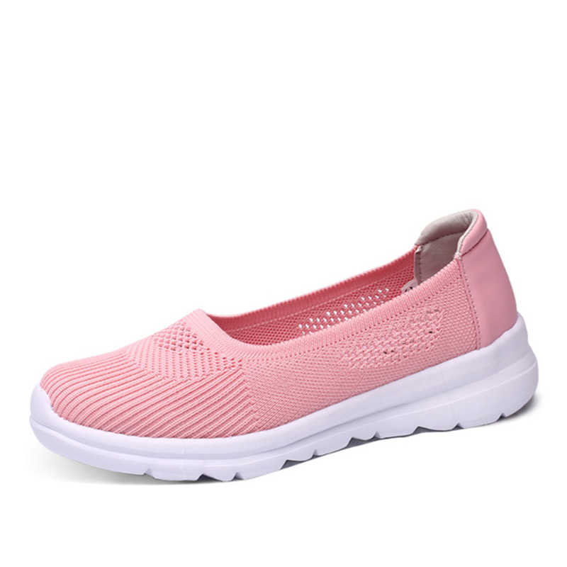 MCCKLE 여성 플랫 캐주얼 스니커즈 통기성 숙녀 메쉬 슬립 여성 가황 신발 워킹 로퍼 컴포트 여성 신발