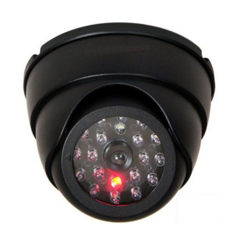 Fake Security Camera CCTV Dummy Fake Surveillance CCTV Security Dome Camera with Red LED Light Flashing