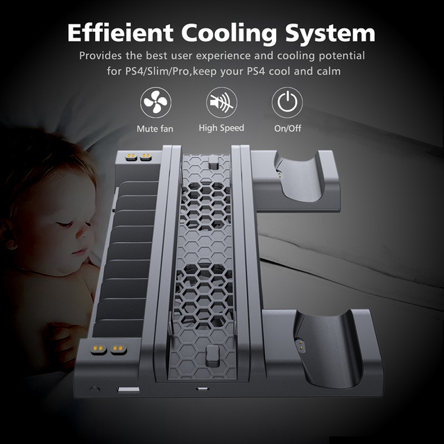 OIVO PS4 Vertical Cooling Stand & Charging Station