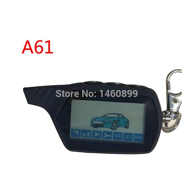 Key-Chain Car-Alarm-System Remote-Control Starline A61 2-Way Anti-Theft Fob LCD for Russian