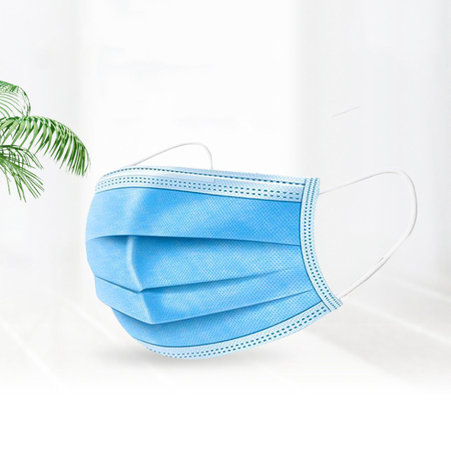 Blue Mouth Anti dust Mask Non Woven Disposable Face Mask 3 Layer Bacteria Proof Flu Facemasks Care 3