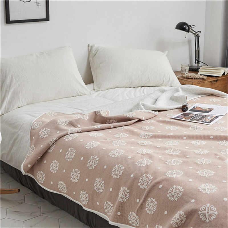 Japanische Baumwolle Decken für Betten Geometrie Sommer Quilt für Sofa Bettdecke bettdecke Frauen Nickerchen Wrap Decke für Auto büro