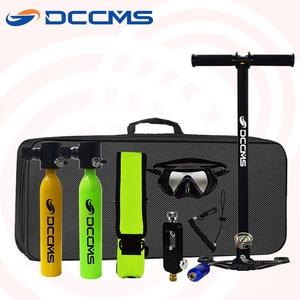 DCCMS mini diving oxygen tank snorkeling respirator 500ML scuba diving equipment portable diving oxygen tank(China)