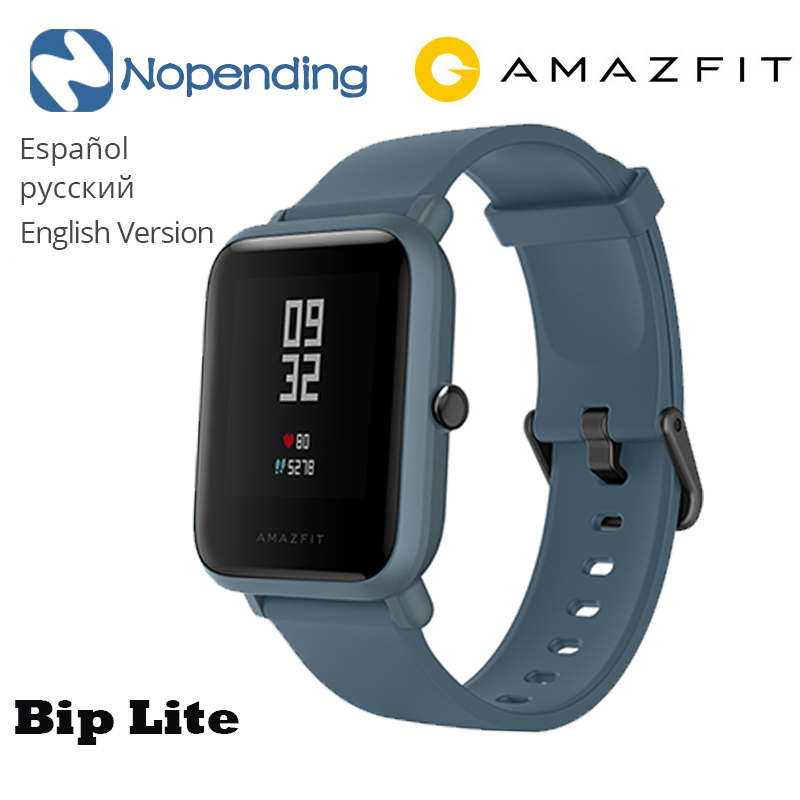 Amazfit Smartwatch Bip-Lite Heart-Rate Waterproof for 45-Days Men' 2-Global-Edition Standby