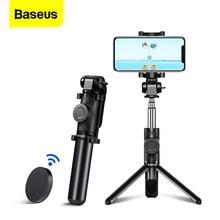 Baseus – trépied de perche à Selfie Bluetooth, Mini monopode Flexible pour téléphone portable iPhone 11 Pro Xiaomi Mi Huawei Samsung