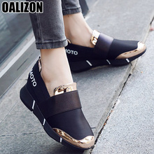 HOT Mujer Women Feminine Slip-On Casual Thicken Soft Soled Plimsolls Moccasin Zapatillas Flat Lazy Lady Leisure Flat Shoes R004 cheap OALIZON Mesh (Air mesh) Shallow Mixed Colors Adult Cotton Fabric Latex Spring Autumn Flat (≤1cm) Elastic band Fits true to size take your normal size