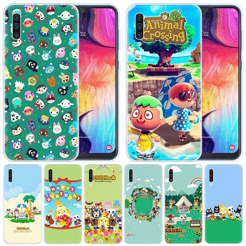 Luxe étui souple de dessin animé mignon Animal Crossing pour Samsung Galaxy A50 A70 A80 A40 A30 A20 A10 A20E A2 noyau A9 A8 A7 A6 Plus 2018