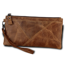 New Men Wallet Clutch Genuine Leather Brand Rfid Cards Wallet Women Organizer Cell Phone Clutch Bag Long Zipper Coin Purse недорого
