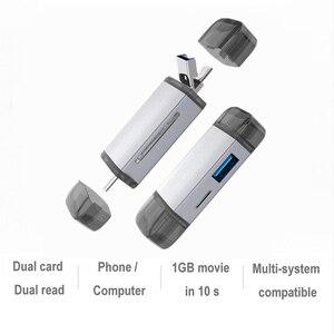 Szybki czytnik kart OTG USB3.0 typu C 6 w 1 Adapter SD/TF/micro-usb/USB u-disk typu C dla Huawei Honor Xiaomi Samsung vivo