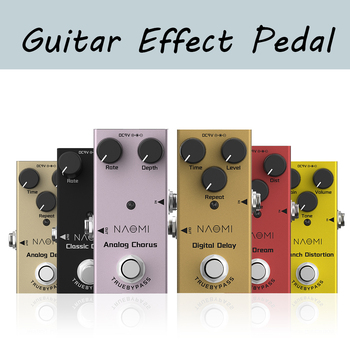 цена на NAOMI Series Guitar Effect Pedal Distortion/ Delay/ Chorus Effects Guitar Pedal True Bypass DC 9V 1A Adapter 3 Way Cable
