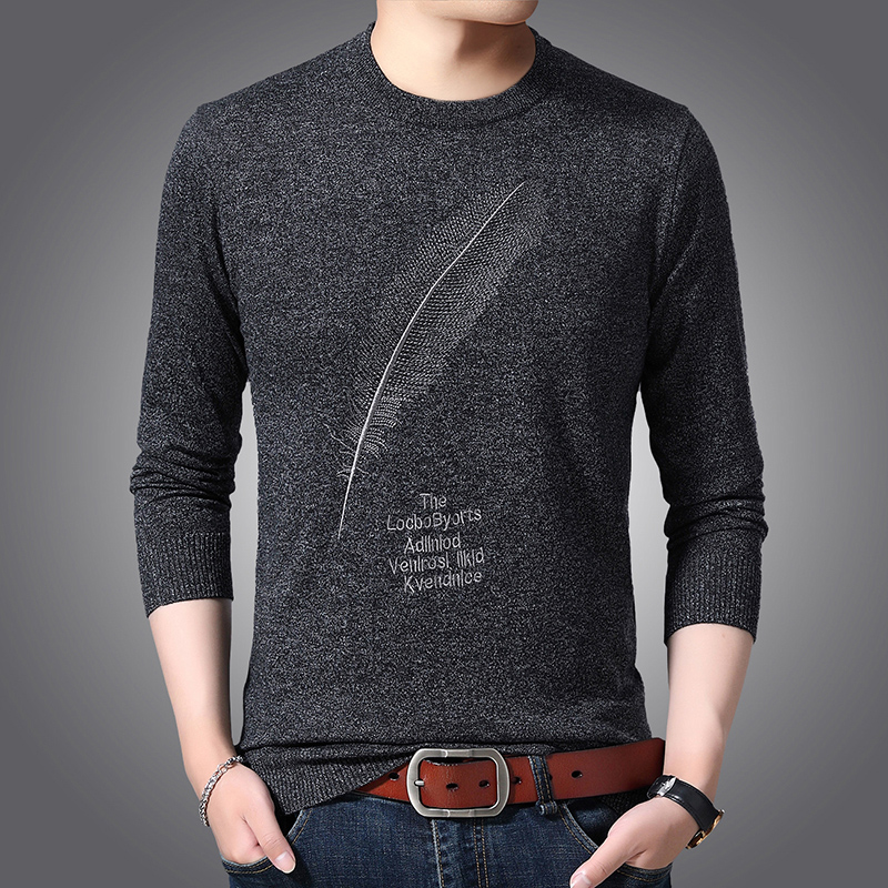 2019 New Fashion Brand Sweater For Mens Pullover O-Neck Slim Fit Jumpers Knitwear Warm Winter Korean Style Casual Mens Clothes