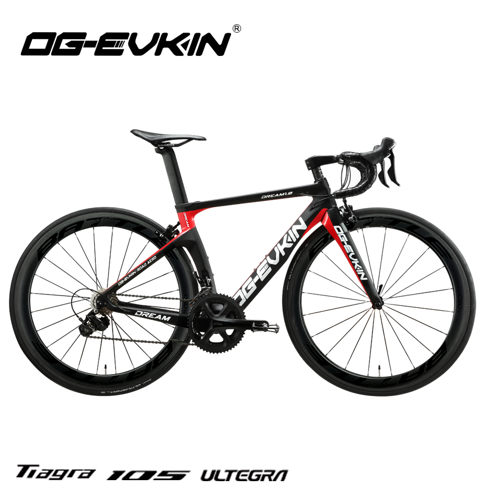 OG-EVKIN CB-024 Carbon Complete Road Racing Bike Bicycles Light Weight 22 Speed 700C BICICLETA Ciclismo With Shiman0 105