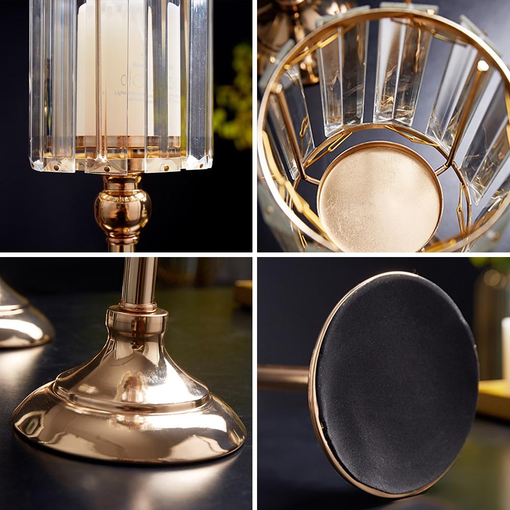 Golden Metal Pillar Candle Holders Nordic Home Decor Metal Candlestick  5