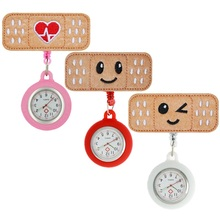 Pocket Watches Medical Nurse-Doctor Hospital-Hang Heart-Rate Retractable Cute Smile Badge