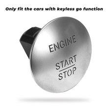 Interruptor de botão de parada de início do motor lgnition para mercedes benz w164 w251 w204 205 w221 botões sem chave de início de um clique