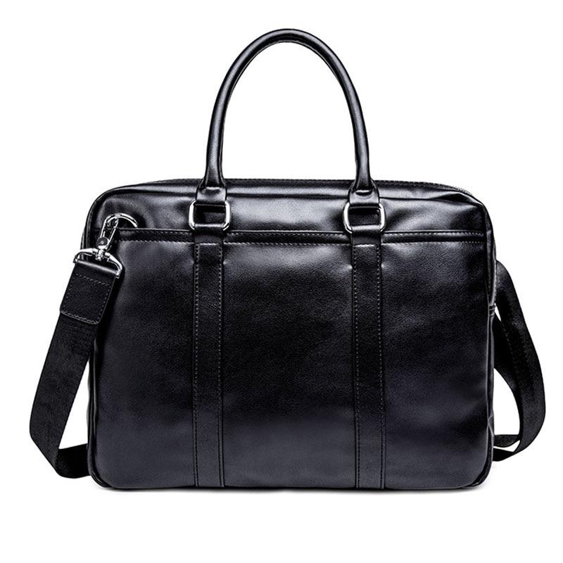 Men's Briefcase New Business Leisure Briefcase Male High Capacity High-quality Leather Men Handbags Classic Men Shoulder Bag
